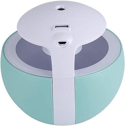 450ミリリットルボール加湿器3で1加湿器ファン水オイルアロマディフューザーホームナイトライト超音波空気加湿器 (色 : 青)