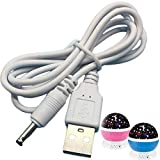 USB Charging Cable for Constellation Night Light,Baby Kids Lamp,Moon Star Sky Projector Rotating Cosmos USB to DC 3.5 Cable
