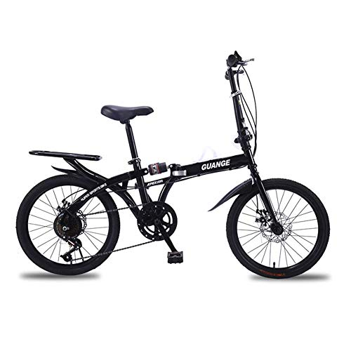 ZPEE Ultra-licht Dual-scheiben-Bremse Klappräder,Kohlenstoffstahl Shock Speed Mountain Bike,7 Variable Geschwindigkeit Klappräder Für Kinder Männer Womens