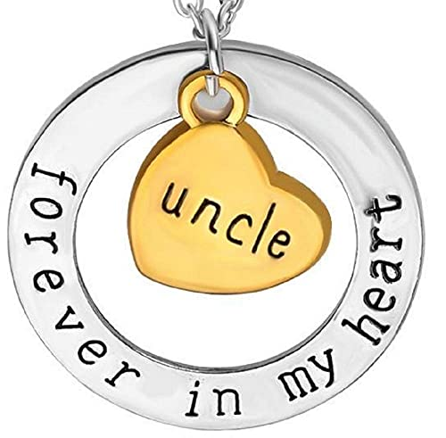 LUIDILUC Collar para hombre con inscripción 'Zio per sempre nel mio cuore - Excelente regalo Zio Nipote