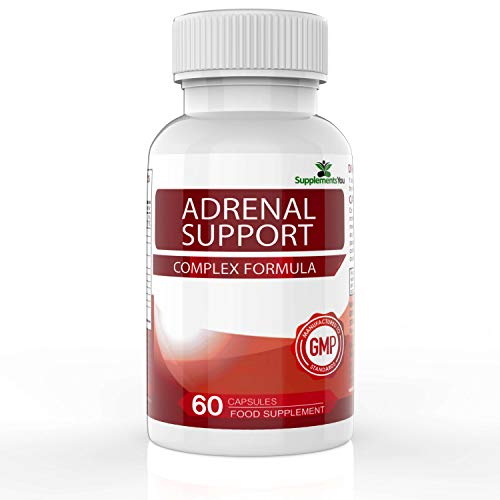 Adrenal Support - 60 Capsules with a Complex Formulation of Vitamin B6 & C - Rhodiola Rosea, Ashwagandha, Liquorice Root & More - Nutritional Support for Healthy Adrenal Gland Function