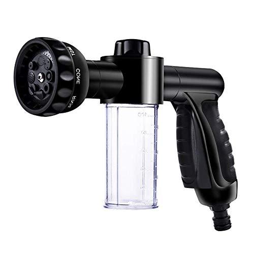 VIVREAL Foam Sprayer - Foam Cannon for Garden Hose, Garden Hose Nozzle Sprayer, Snow Foam Gun Washer with Wash Mitt, 8 Watering Patterns for Cars Washing, Pets Shower, Plants Watering, 3.5oz/100cc