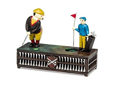 aubaho Spardose Birdie Putt Golf Golfspieler golfen Antik-Stil Eisen Dekoration