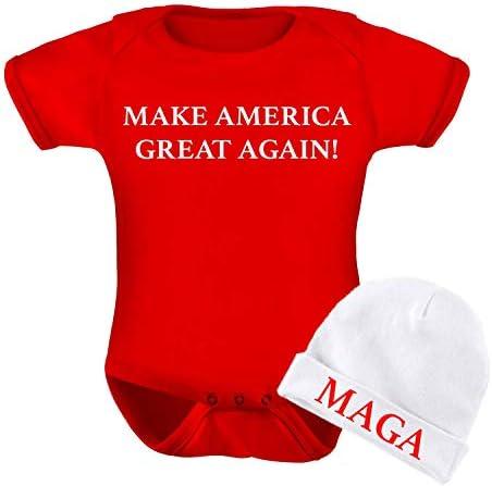 Super Cute| Baby bodysuit I/'m Here To Make America Great Again