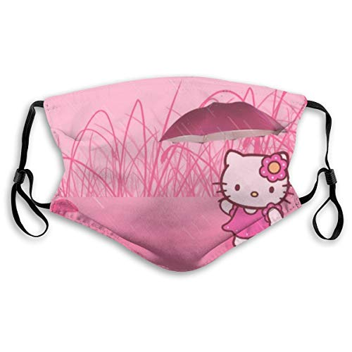 GBDS Hello Kitty Rain Adults Adjustable Earloop Mouth Guard Anti-Dust with Filter Reusable Protection Mouth Guard Anti Pollution,Anti-smog