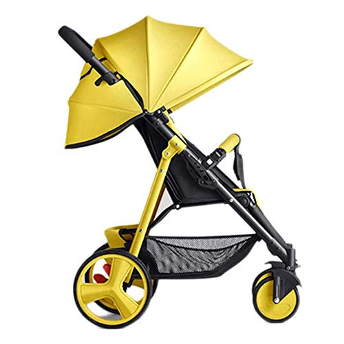ZKHD Baby Strollers Easy Newborn Children Can Sit Lying Pushchairs Shock Absorbers One-Click Folding Pushchairs Prams Portable Strollers Buggies