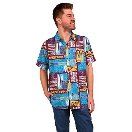 FOCO Football Team - Camiseta para hombre, diseño del equipo de fútbol (West Ham United FC, talla grande)