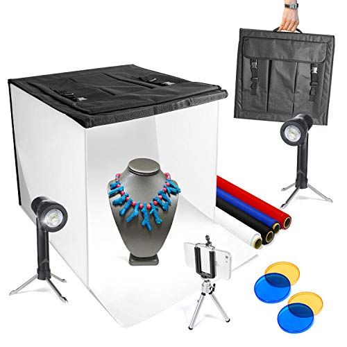 LimoStudio 16' x 16' Table Top Photo Photography Studio LED Lighting, Light Tent Kit in a Box, Photo Background Shooting Tents, AGG349
