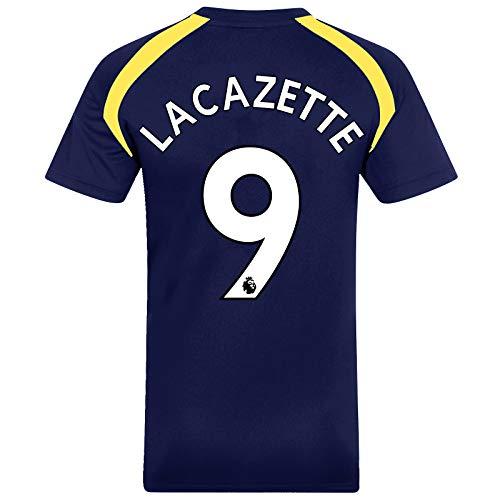 Arsenal FC - Herren Trainingstrikot aus Polyester - Offizielles Merchandise - Geschenk für Fußballfans - Marineblau - Lacazette 9 - M