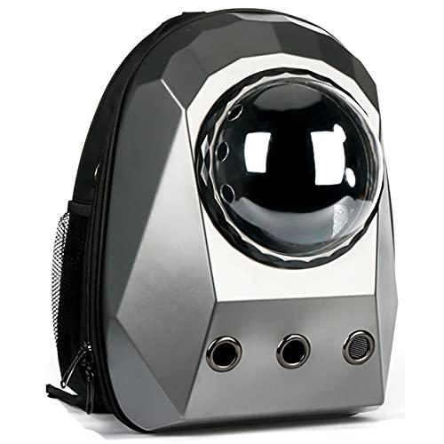 Bolsa Gato Bolsa De Viaje Transpirable con Transporte De Ventana, Astronauta De Burbujas, Cápsula Espacial para Perros, Mochila Portad