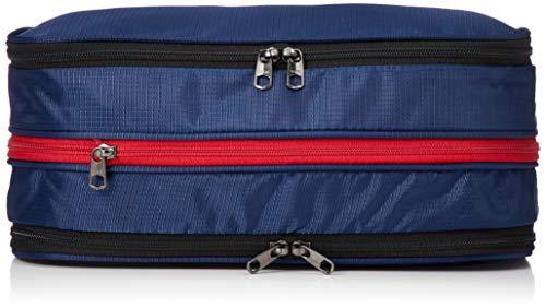 [トラベルコレクション] 圧縮バッグ Sサイズ パッキングオーガナイザー・アレンジケース TRC7073-S 16 cm ネイビー/レッド