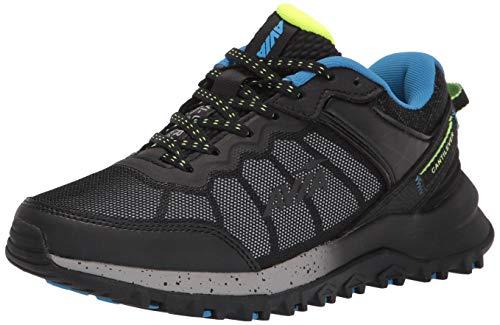 Avia Men's Avi-Ultra Trail Running Shoe, Black/Blue Aster/Safety Yellow, 9.5