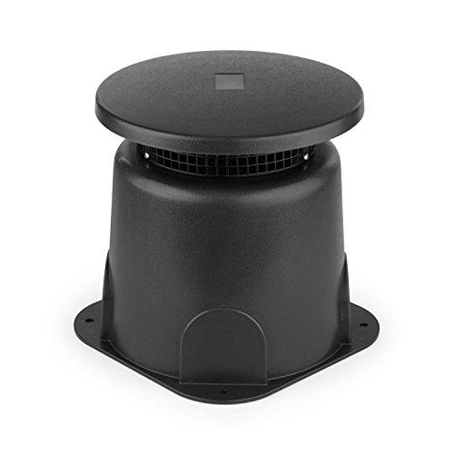 "Oneconcept GS 665 Outdoor - Altavoz Exterior, Potencia Ajustable, 15/30W RMS, 16,5cm (6,5""), Sonido nítido 360°, Carcasa ABS, Clase de protección IP65, Instalación Flexible, Negro"
