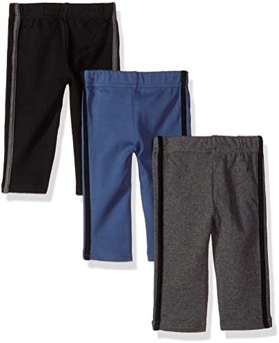 Hudson Baby Unisex Baby Cotton Pants and Leggings Black Blue 4 Toddler product image