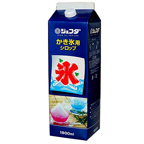 かき氷 シロップ 業務用 1.8L / 懐かしの屋台の味わい 徳用サイズ 氷みつ (みぞれ)