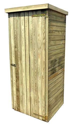 AVANTI TRENDSTORE - Cassino - Casetta da Giardino per Gli Attrezzi in Legno di Pino impregnato. Dimensioni Lap 80x185x73 cm