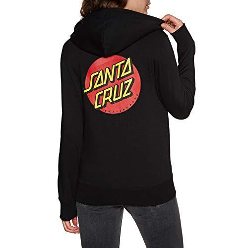 Santa Cruz Classic Dot Womens Pullover Hoody UK 8 Reg Black