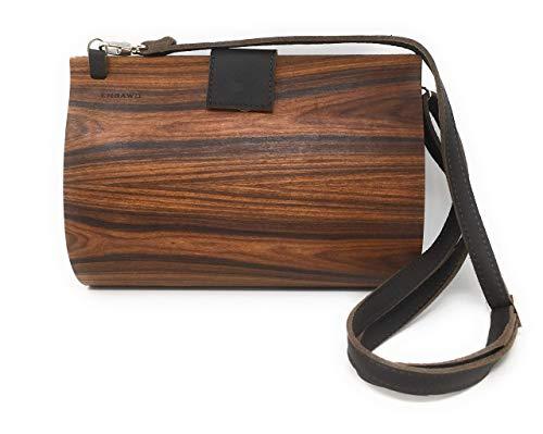 EMBAWO Umhängetasche LORI - echtes Holz in Kombination mit echtem italienischem Leder - 100% Made in Italy