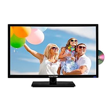 Sceptre 24  1080P LED HDTV DVD Combo E249BD-FMQC MHL Ready, Metal Black