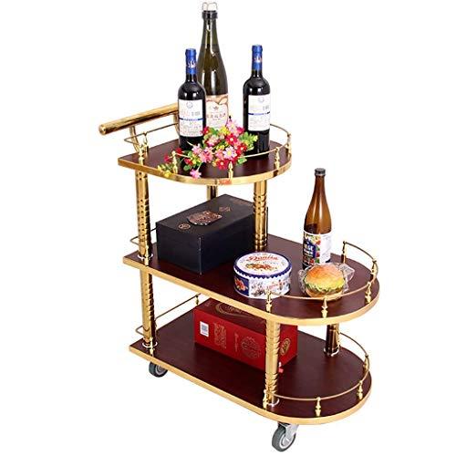 Carrito de cocina de 3 niveles con carrito con ruedas con cerradura,...