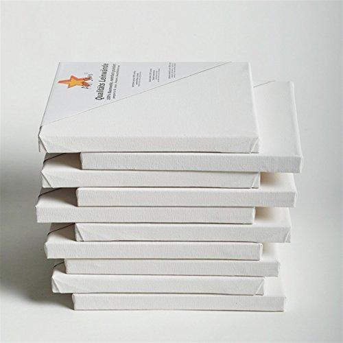BK BILDERRAHMEN KOLMER 10 Art-Star LEINWÄNDE AUF KEILRAHMEN 30x30 cm | malfertig, 100{182b6bac63b72f3346a8d3daa89b9903e14a39bb6c709abd685142ed28b4a83c} Baumwolle, ideal für Mal-Einsteiger
