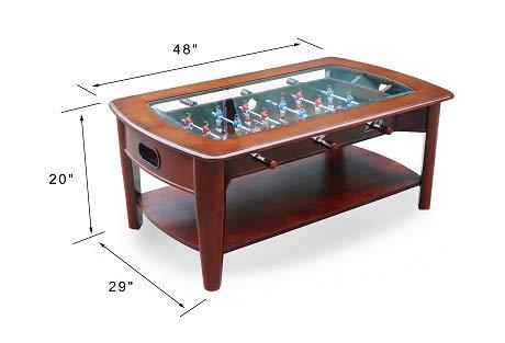 KICK Java 48″ hardwood Foosball best Coffee Table