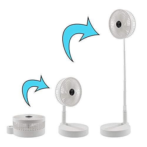 small LOKE foldable table fan, height adjustable, 7200 mAh battery, 4 speeds …