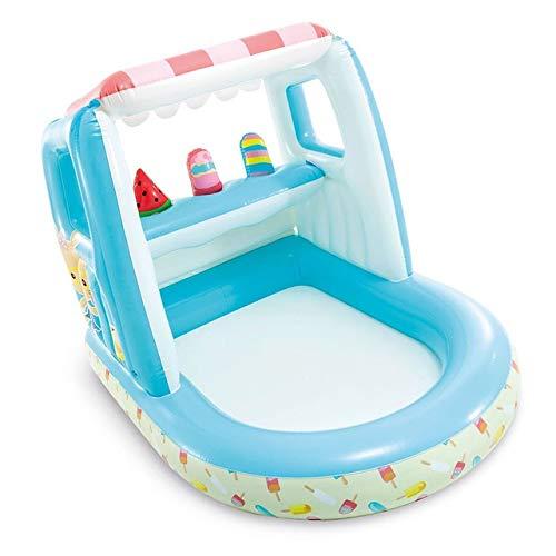 SHENAISHIREN Swimming-Pool, Familien Aufblasbares Kinderzelt, Platschen Pool, Baby Popsicle Haus, Ozean-Ball Pool