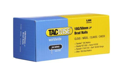 Tacwise 0401 Stiftnägel 18G/50mm Verzinkt (5.000 Stück pro Verpackung)