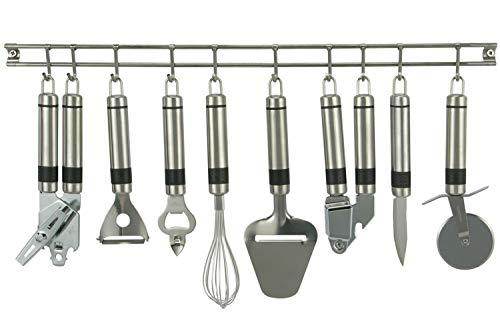 e-Best Juego de 9 utensilios de cocina de acero inoxidable
