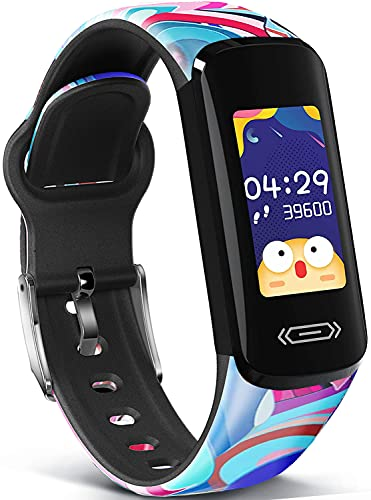 MorePro Fitness Tracker for Kids, Activity Tracker with Temperature Heart Rate...