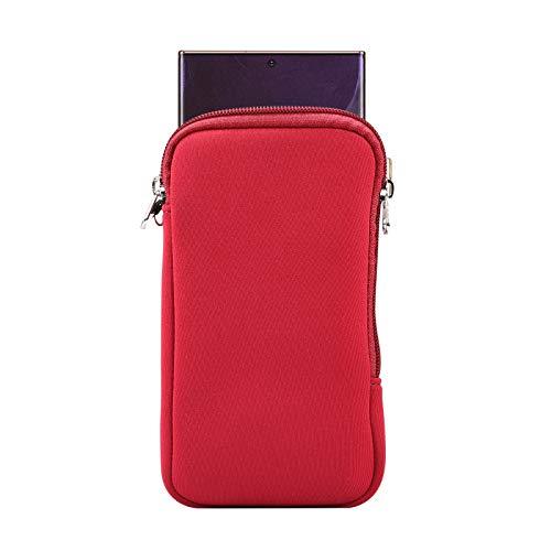 Neopren-Schutzhülle für Samsung Galaxy Note 20 Ultra S21 S20 Ultra A72 A32 5G A12 A21S, Moto G Power G Play 2021, LG V60 ThinQ Stylo 6, OnePlus Nokia (Rot - XL)
