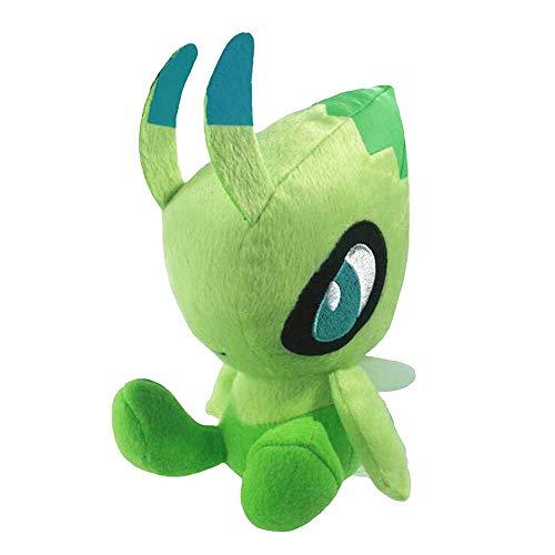 XIAOMOLAO Pokemon Pocket Monster Celebi Plüschpuppenspielzeug 23Cm, Weiches Kuscheltier Spielzeug Nettes Actionfigur Geschenk Für Kinder