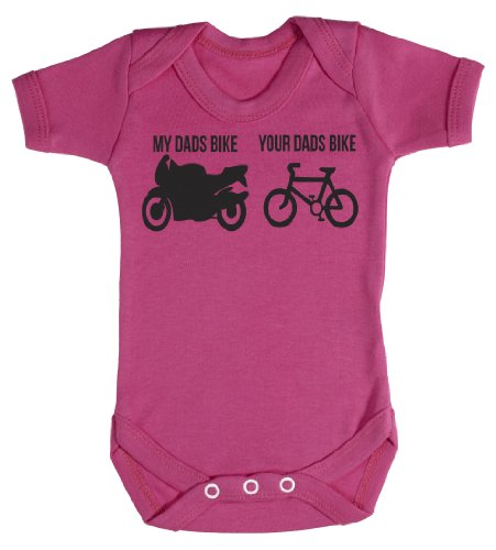 Baby Buddha - Yours & My Dads Bike Baby Bodysuit Baby Top 6-12M Pink