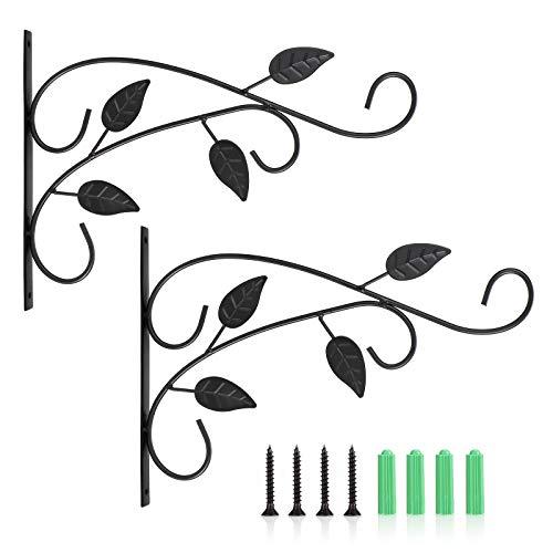 Wisolt Hängende Pflanzenhalterungen 2 Stück Wandhalterung Pflanzen Eisenwand Hängende Haken Schmetterling mit 4 Befestigungsschrauben für Pflanzenkorb Blumentöpfe Laternen Vogelhäuschen