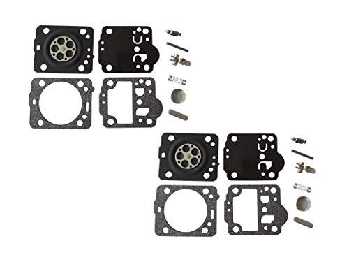 Kit de reparación y reconstrucción de carburador sustituye a ZAMA RB-149 para Husqvarna 236 Motosierra POULAN/Weed Eater Airhead Hobby Saw ZAMA C1T-EL41A C1T-W33A-C (Paquete de 2)
