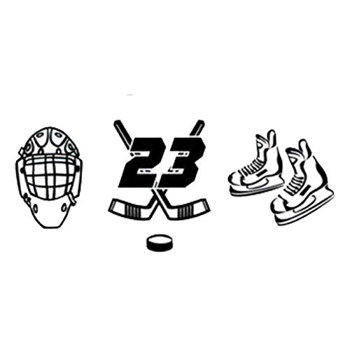2Pcs/Autosticker Mode Sport Eishockey Persönlichkeit Auto Aufkleber Schwarz Silber 14,5 Cm * 6,2 Cm