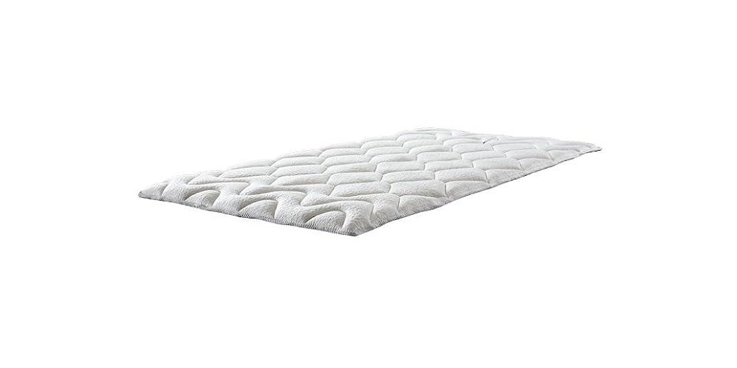 強要平衡一般マニフレックス ベッドパッド 敷きパッド 高反発 エルゴ?トッパー ホワイト クイーン