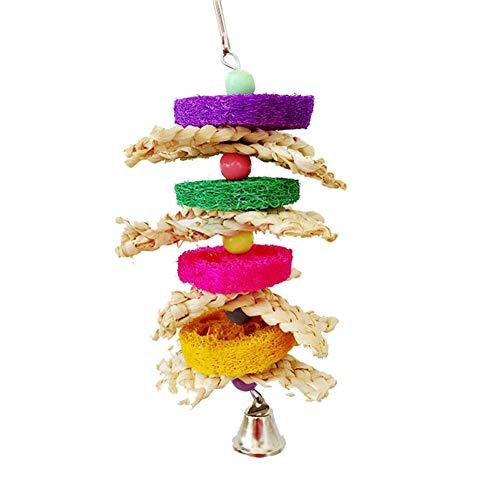 Demarkt Colorido juguete para pájaros, pájaros, loros, columpios, juguete
