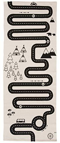 OYOY Mini Adventure Rug - Langer Kinderzimmer Spielteppich mit Strasse - Kinderteppich für Jungen und Mädchen - Länge 180 cm I Baumwolle