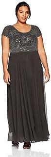 فستان J Kara طويل الخصر الإمبراطوري للنساء مقاس كبير