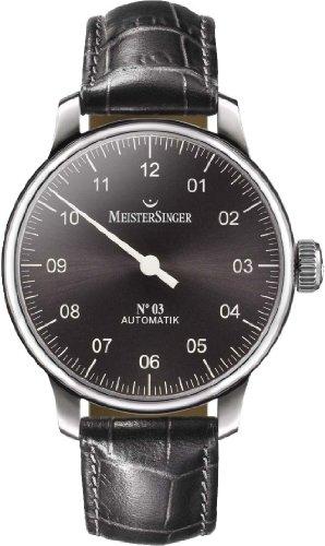 Meister Singer No 03 Elegante orologio da uomo Design senza tempo