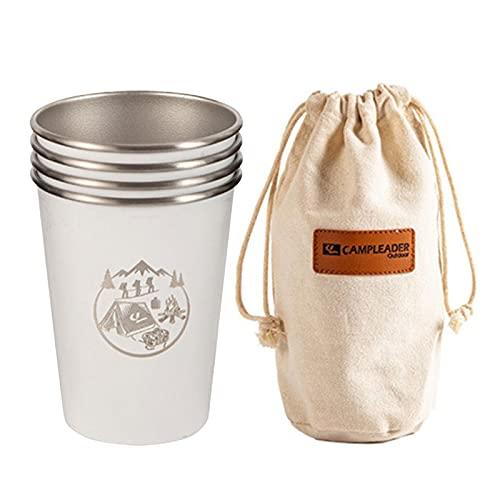Taza de café de acero inoxidable 304, duradera, segura y saludable, para camping, senderismo, pícnic