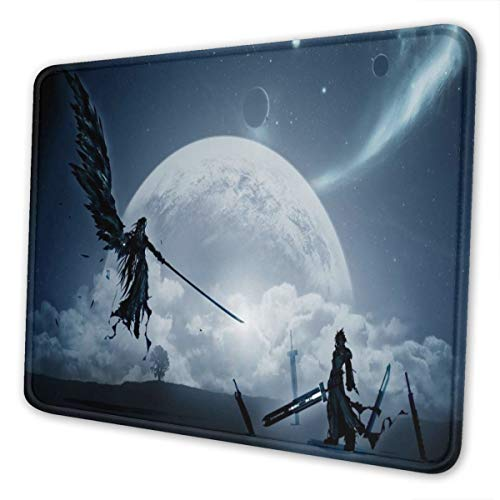 HBZZT Large Gaming Mouse Pad Final Fantasy VII Print Non-Slip Mouse Pad - Portable Large Desk Pad 10 x 12 inch