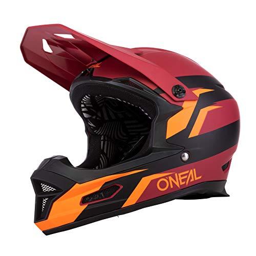 O'NEAL | Casco para Bicicleta de montaña | MTB Downhill | Según la Norma de Seguridad EN1078, Cubierta Exterior de ABS | Casco DE Fuerza Stage | Adultos | Rojo Naranja | Talla L