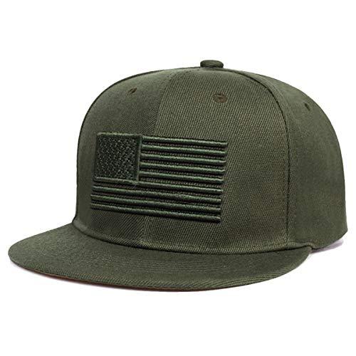 Sporty Snapback Cap U.S.A. Flag Fahne USA Baseballcap gerader Schirm Amerika Kappe...