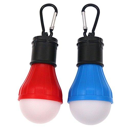 Coideal Camping Light 2 Pack Portable lampada a LED tenda lampadina lampade a batteria per l'uragano di emergenza pesca a piedi e avventure all'aria aperta