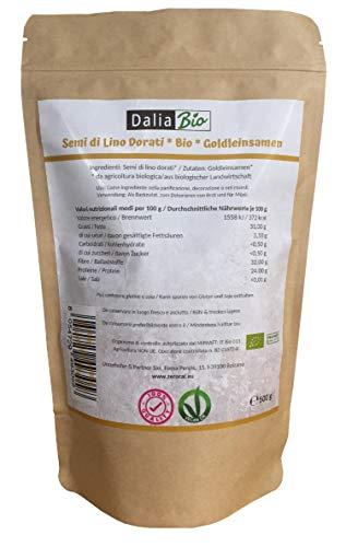 Bester der welt Dahlia Bio GOLD LEINENSAMEN Gold, natürliche und reine Pflanzen, 500 g