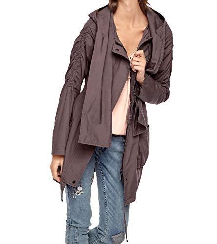 Linea Tesini Damen Designer-Parka, Taupe, Größe:40