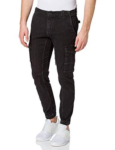JACK & JONES Herren Jjipaul Jjflake Akm 268 Sts Jeans, Black Denim, 31W 32L EU
